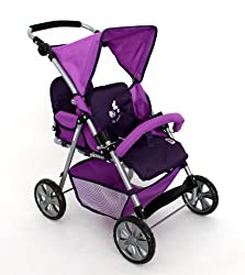 Bayer Chic 2000 688 25 - Zwillingsbuggy Tandem Pflaume