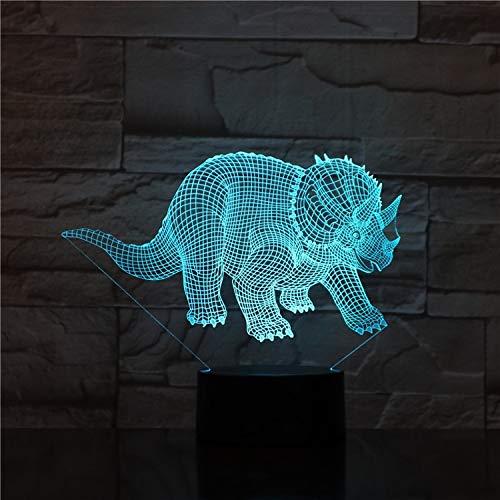 Dinosaur Majestic Triangle Dragon 7 Farbe 3d-optische Täuschungslampe Berühren Fernbedienung Led-nachtlampe Home Dekorative Visuelle Optische Täuschung -