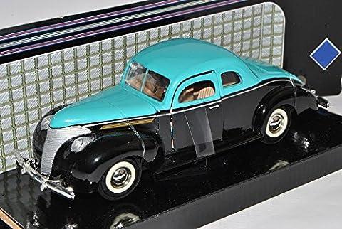 Ford Coupe Custom 1940 Schwarz mit Türkis 1/24 Motormax Modell Auto