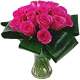 Clare Florist Grace Pink Roses Fresh Flower Bouquet - 20 Premium Pink Roses Ideal as a Gorgeous Gift