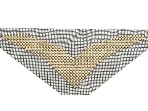 Style 8700Kristall klar folienbeschichtete Ausschnitt Verzierung Mesh Applikation, clear crystal,...