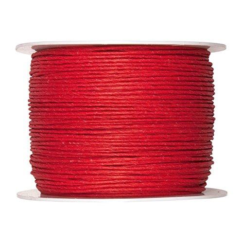 FloristryWarehouse bande de papier Cordon interne avec fil rouge 2 mm x 100 m Bobine 25 Vintage Shabby Chic Crafts