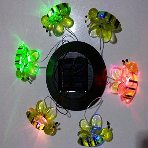 LanLan Solar LED Licht Farbwechsel Wind Chimes Bee Anhänger Bell Yard Garten Home Decor (Licht Park Anhänger 5)