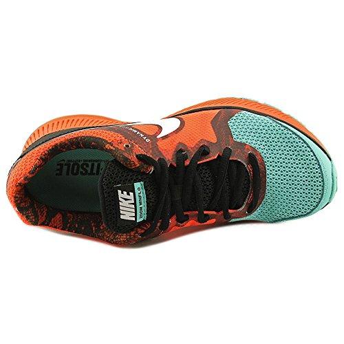 Nike Zoom Winflo Print Femmes Synthétique Chaussure de Course Blk-White-Hypr Crmsn-Hypr Trq