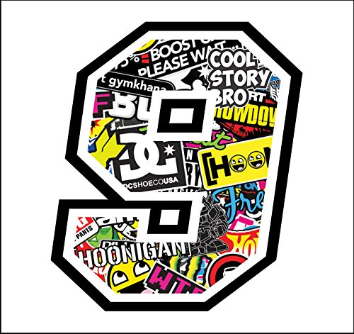 Adhesive Race - 9-12 cm - Sticker Bomb - Cross Pista de...