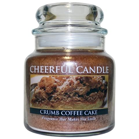 A Cheerful Giver Crumb Coffee Cake Jar Candle, Brown, 16 oz