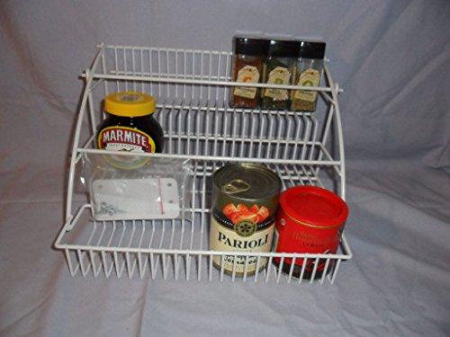 Schrank Organizer Kit (Generic NV 1001002416_ yc-uk2saveroar Rack Organizer Draht Küche Schrank VES R Spice Rack rgani weiß Draht-Regalböden-Space Saver Kit)