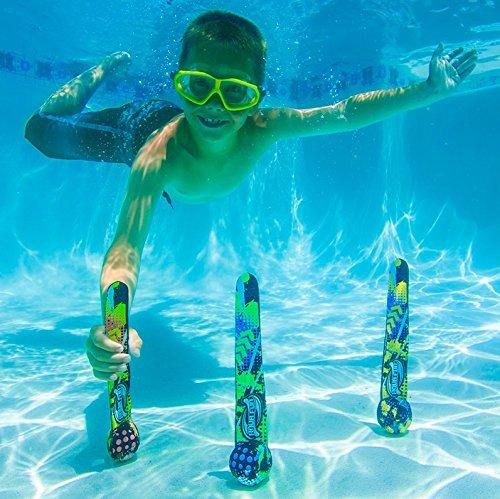 Swim Central Lot de 3 Aqua Fun Active Xtreme Multicolore Bombes de plongée Piscine Jouets 28,6 cm
