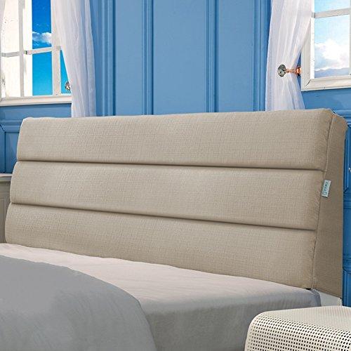 Xufei comodino comodino cuscino grande letto matrimoniale schienale divano letto vita cuscino in stoffa cuscino morbido cuscino multifunzione, sfoderabile e lavabile, 6 colori, 9 dimensioni optional