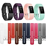 For Fitbit Charge 2 Strap Bands Replacement, Adjustable Sport Strap Band for Fitbit Charge 2 Wristband with Metal Clasp Small Large