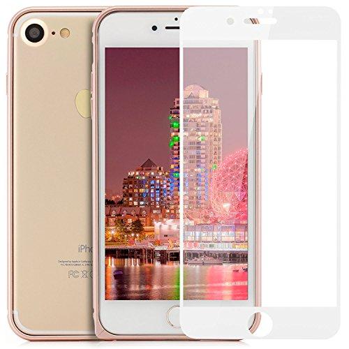 zanasta iPhone 7 (4,7) Custodia + Vetro Temperato 3D Cover Ultra Slim Bumper Case (con Jack) del Respingente Antiurto   Alta Qualità di Protezione Sottile e Elegante Design Nero (Jet Black) [Vetro Pro Rose Gold