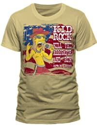 The Simpsons Men's Kid Rock Stars And Stripes Short Sleeve T-Shirt