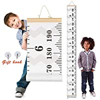 Scotamalone Height Chart Growth Chart, Baby Kids Growth Height Chart, Hanging Measuring Ruler, Canvas Height Chart, Removable Height and Growth Chart, Precious Gift for Kid Boys Girls 200x20CM