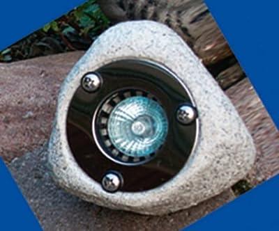 Heitronic Beleuchtete Steine 3er Set (granit mit Edelstahlabdeckung) von Heitronic auf Lampenhans.de