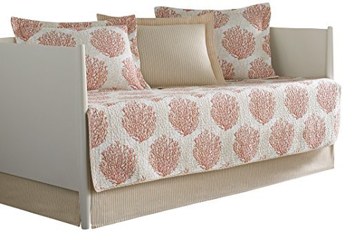 Laura Ashley 5-Piece Coral Coast Daybed Cover Set, Twin, Floral by Laura Ashley -