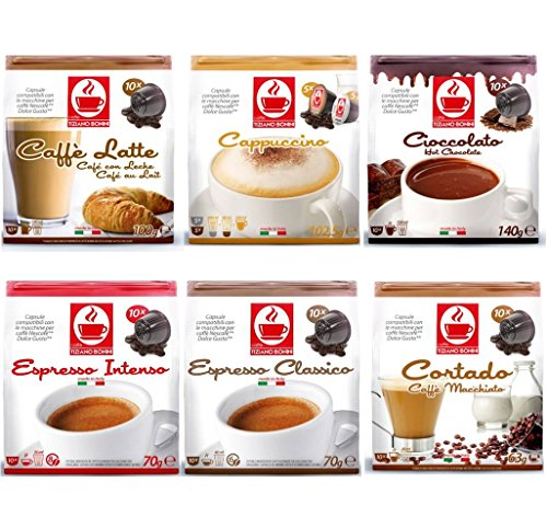 60 Dolce Gusto Compatible Coffee & Hot Chocolate Capsules Variety Pack – YOU CHOOSE BLEND 51jzaQDr94L