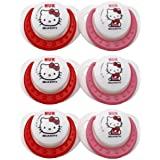 NUK Hello Kitty Orthodontic Silicone Pacifier Size 2, 6 Pack by NUK