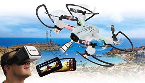 Jamara Angle 120 Altitude HD Wifi VR, inkl. VR-Brille, Altitude Hold Adjustment, Kompass/Flyback,...