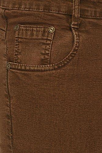 Studio Nexx Men's Cotton and Denim Regular Fit Stretch Jeans (Brown, 34)