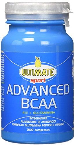 Advanced BCAA Formula Avanzata Aminoacidi Ramificati Nel Rapporto 411 Leucina Isoleucina Valina Glutaina Peptide Vitamina B6 Maggiore Assimilazione