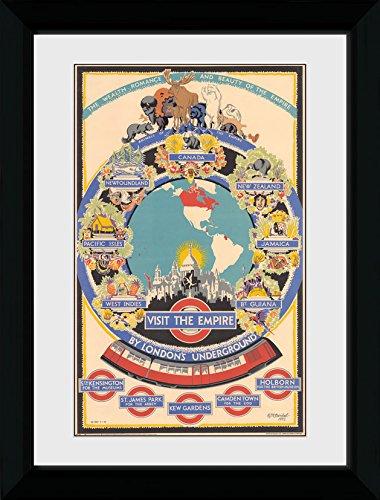 GB Eye Ltd Transport for London, Visite l'empire 2, encadrée, 50 x 70 cm, Bois, différents, 55 x 75 x 2.9 cm