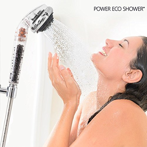 Hasëndad Power Eco Shower Ducha Multifunción, Plateado, 7 x 7 x 27