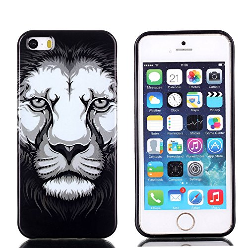 MOONCASE Etui pour Apple iPhone 5G / 5S Silicone Gel TPU Housse Coque Case Cover XS10 XS04 #0302