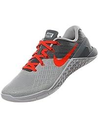 Nike Womens Metcon 3 Training Shoes, Pure Platinum/Total Crimson, 36.5 B(
