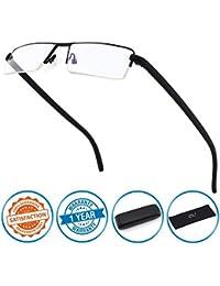 CGID lunettes de lecture Anti lumière bleue, monture demi cerclée en TR90, pour hommes et femmes, SBK001