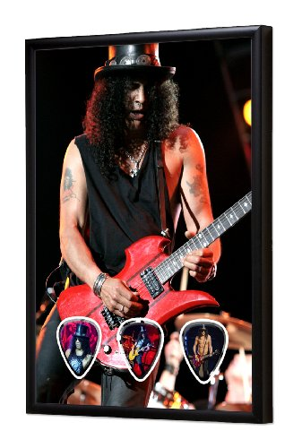 Slash (WK) Live Performance Framed Guitarra Pick Display