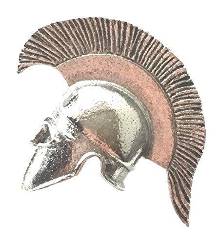 Griechisch Helm Zinn Revers Anstecknadel + 59mm knopf-abzeichen