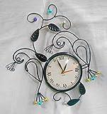 Handicraftscart Metal Peacock Clock ( 12...