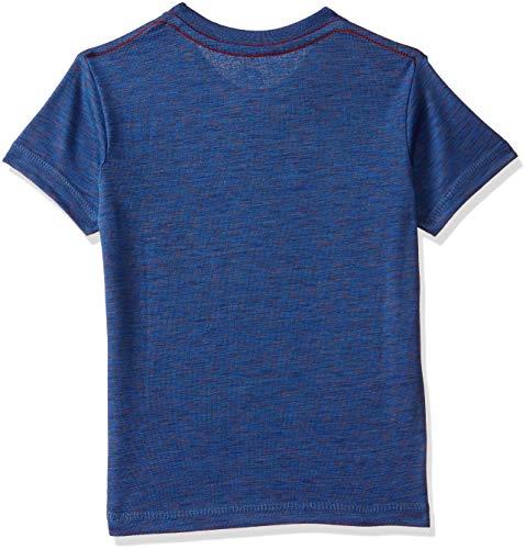 Superman Boys' Plain Regular Fit T-Shirt (DC1FBT593_Royal Blue Tex_3-4 Years)