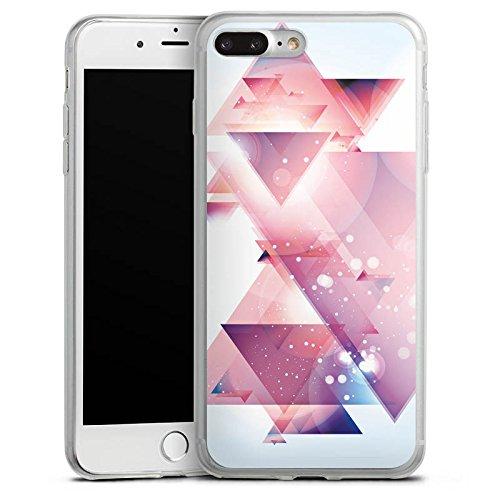 Apple iPhone X Slim Case Silikon Hülle Schutzhülle Dreiecke Galaxie Muster Silikon Slim Case transparent