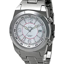 Lew and Huey 200 Meter Dual Crown Automatic Dive Watch with Strap and Bracelet Acionna-SR