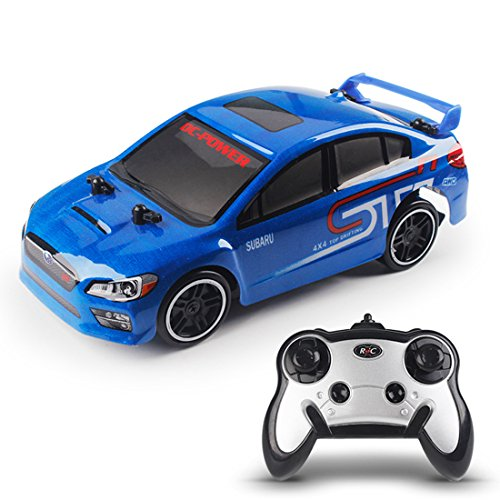Riva776Yale RC24 1:24 Topspeed Drift Allrad Elektrische Auto, Allradantrieb Ferngesteuertes Auto- Blau (1 24 Drift Rc Car)