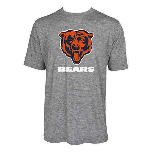 Zubaz NFL Chicago Bears Herren Tonal Gray Wordmark Logo Tee, Grau, Herren, SNFL06SDT03970521, Grau, XL