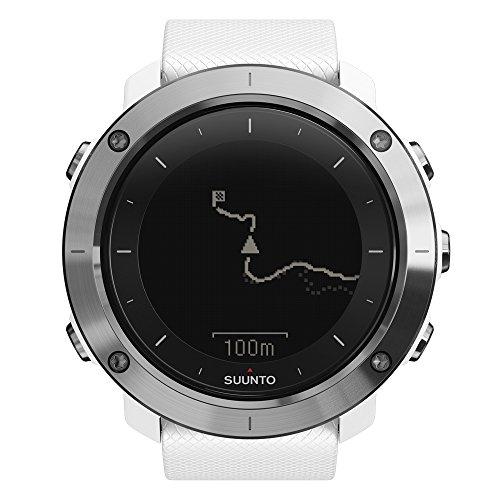 Suunto TRAVERSE - Reloj GPS de exterior para excursionismo y senderismo, hasta 100 horas de batería, sumergible, color blanco