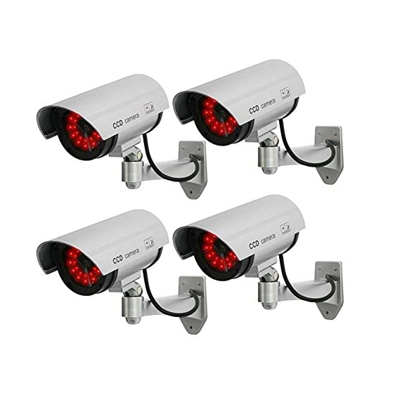 CPEX Dummy Security CCTV Dome Camera with Realistic Look Recording Flashing Red LED Light for Indoor and Outdoor Use, Homes & Business