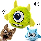 Enlarge toy image: Dog Toy Squeaky Automatic Ball Interactive Plush Electronic Motion Shake Crazy Bouncer Toy for Small Medium Doggie