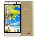 Landvo XM100 5,0'' Zoll 3G-Smartphone IPS Screen Simlockfrei Handy Ohne Vertrag MT6580 Quad Core 1.3GHz MT6580 Dual SIM 1G+8G Dual Kameras Smart Wake GPS WIFI Bluetooth Gold