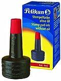 Pelikan 351221 Encre à tampon encreur sans huile 28 ml (Rouge)