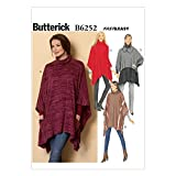 Butterick Patterns 6252 ZZ Sizes Large 16 - 18/X-Large 20 - 22/2X-Large 24 - 26 Misses Poncho