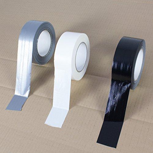 Extra Power Gaffer Tape schwarz, 50m x 48mm - Gewebeklebeband / Reparaturklebeband - showking