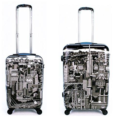 Sets de Bagages, valises - Première Classe Valise Rigide Set 2 pièces - Heys Artistes Fazzino Manhattan Bagages à Main + Trolley avec 4 Roues Mèdias