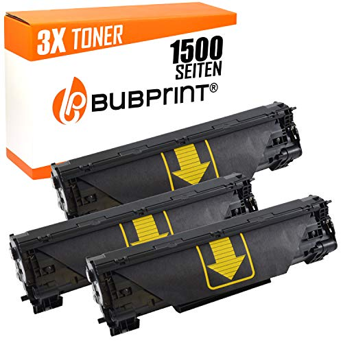 Bubprint 3 Toner kompatibel für HP CF283A 83A für Laserjet Pro MFP M125A M125NW M126A M127FN M127FW M128FN M201DW M225DN M225DW M226DN M226DW Schwarz (M125a Hp-drucker)