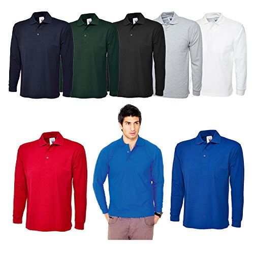 Uneek Uneek UC113 Polyester/Cotton Unisex Long Sleeve Pique Polo Shirt