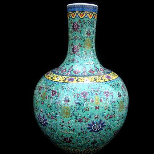 All Décor Chinesische Porzellan Vase Blume Home Office Decor Handgefertigt und Handbemalt Porzellan mit Blumenmuster (61x 48,3cm) Chinesisch Colour Enamels -