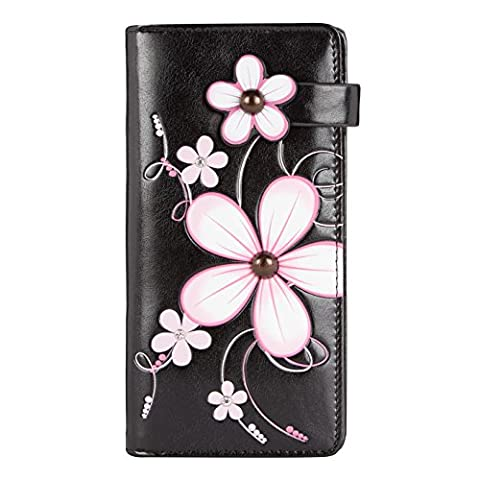 Shagwear Women's Wallet Pink Fleur Rose/ Funky Flower