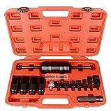 14-teiliges Einspritzdüsen-Abzieherset, Werkzeug-Set mit Adapter für Common-Rail Dieselmotoren